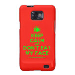 [Cutlery and plate] keep calm and don't eat my face  Samsung Galaxy S2 Cases