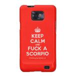 [Crown] keep calm and fuck a scorpio  Samsung Galaxy S2 Cases