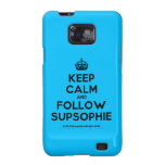 [Crown] keep calm and follow supsophie  Samsung Galaxy S2 Cases