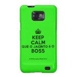 [Crown] keep calm que o jacinto é o boss  Samsung Galaxy S2 Cases
