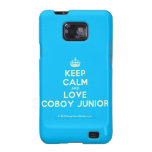 [Crown] keep calm and love coboy junior  Samsung Galaxy S2 Cases