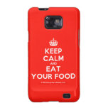[Crown] keep calm and eat your food  Samsung Galaxy S2 Cases