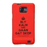 [Crown] bly kalm ons gaan gat skop  Samsung Galaxy S2 Cases