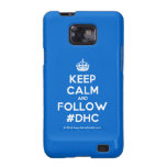 [Crown] keep calm and follow #dhc  Samsung Galaxy S2 Cases