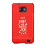 [UK Flag] keep calm and run like fuck  Samsung Galaxy S2 Cases