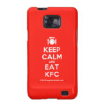 [Cutlery and plate] keep calm and eat kfc  Samsung Galaxy S2 Cases