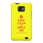 [Smile] keep calm and smile on  Samsung Galaxy S2 Cases