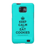 [Crown] keep calm and eat cookies  Samsung Galaxy S2 Cases