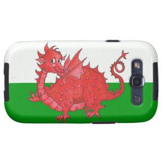 Samsung Galaxy S3 Case, Cute Welsh Red Dragon