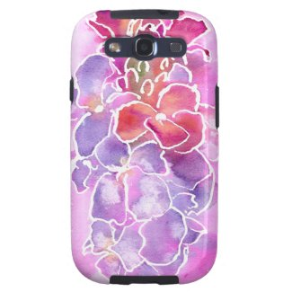 Samsung Galaxy S3 Case Pink, Lilac Floral Design