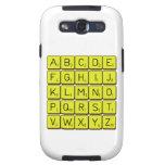ABCDE FGHIJ KLMNO PQRST VWXYZ  Samsung Galaxy S3 Cases