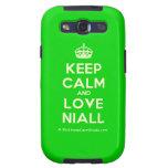 [Crown] keep calm and love niall  Samsung Galaxy S3 Cases