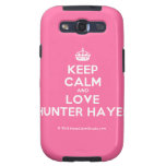 [Crown] keep calm and love hunter hayes  Samsung Galaxy S3 Cases