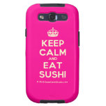 [Crown] keep calm and eat sushi  Samsung Galaxy S3 Cases