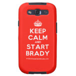 [Crown] keep calm and start brady  Samsung Galaxy S3 Cases