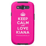 [Crown] keep calm and love kiana  Samsung Galaxy S3 Cases