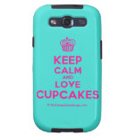 [Cupcake] keep calm and love cupcakes  Samsung Galaxy S3 Cases