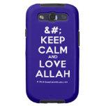 [No Crown] keep calm and love allah  Samsung Galaxy S3 Cases