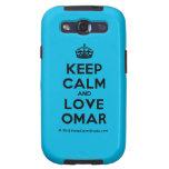 [Crown] keep calm and love omar  Samsung Galaxy S3 Cases