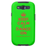 [Crown] keep calm and dance on  Samsung Galaxy S3 Cases