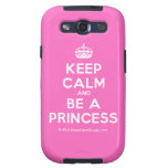 [Crown] keep calm and be a princess  Samsung Galaxy S3 Cases