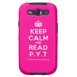 [Crown] keep calm and read p.y.t  Samsung Galaxy S3 Cases