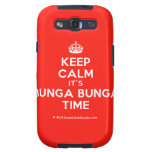 [Crown] keep calm it's bunga bunga time  Samsung Galaxy S3 Cases