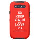 [Crown] keep calm and love pj  Samsung Galaxy S3 Cases