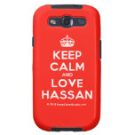 [Crown] keep calm and love hassan  Samsung Galaxy S3 Cases