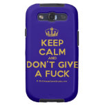 [Dancing crown] keep calm and don't give a fuck  Samsung Galaxy S3 Cases