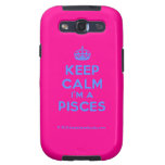 [Crown] keep calm i'm a pisces  Samsung Galaxy S3 Cases