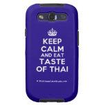 [Crown] keep calm and eat taste of thai  Samsung Galaxy S3 Cases