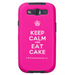 [Cupcake] keep calm and eat cake  Samsung Galaxy S3 Cases