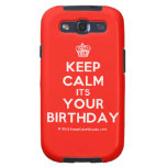 [Cupcake] keep calm its your birthday  Samsung Galaxy S3 Cases