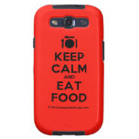 [Cutlery and plate] keep calm and eat food  Samsung Galaxy S3 Cases