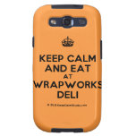 [Crown] keep calm and eat at wrapworks deli  Samsung Galaxy S3 Cases