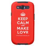 [Crown] keep calm and make lovr  Samsung Galaxy S3 Cases