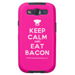 [Chef hat] keep calm and eat bacon  Samsung Galaxy S3 Cases