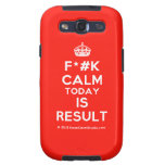 [Crown] f*#k calm today is result  Samsung Galaxy S3 Cases