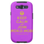 [Smile] keep calm and join moko.mobi  Samsung Galaxy S3 Cases