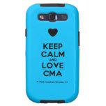 [Love heart] keep calm and love cma  Samsung Galaxy S3 Cases