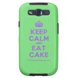 [Crown] keep calm and eat cake  Samsung Galaxy S3 Cases