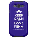 [Moustache] keep calm and love peha  Samsung Galaxy S3 Cases