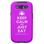 [Cutlery and plate] keep calm and just eat  Samsung Galaxy S3 Cases