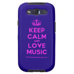 [Dancing crown] keep calm and love music  Samsung Galaxy S3 Cases