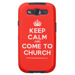 [Crown] keep calm and come to church  Samsung Galaxy S3 Cases
