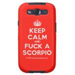 [Crown] keep calm and fuck a scorpio  Samsung Galaxy S3 Cases