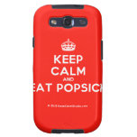 [Crown] keep calm and eat popsick  Samsung Galaxy S3 Cases