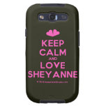 [Two hearts] keep calm and love sheyanne  Samsung Galaxy S3 Cases
