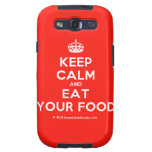 [Crown] keep calm and eat your food  Samsung Galaxy S3 Cases